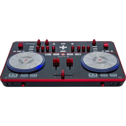 Vestax Typhoon DJ MIDI Controller with Soundcard