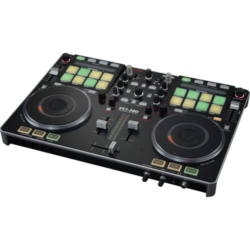 Vestax VCI-380 2-Channel Serato DJ Controller with Built-In Mixer (Black)