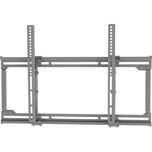 Video Mount Products Extra Medium Flat Panel Flush Mount with Tilt (Silver)