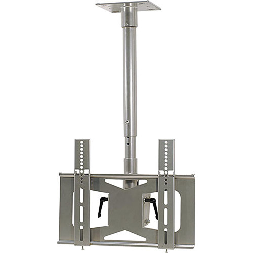 Video Mount Products LCD-MID-C Mid-Size Flat Panel Ceiling Mount - Silver