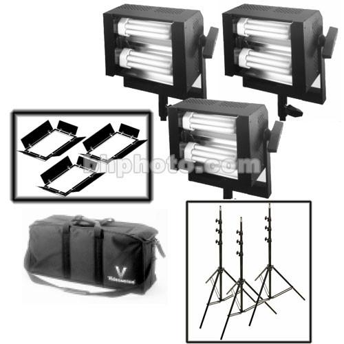 Videssence Baby Base Fluorescent Dimmable 3-Light Kit