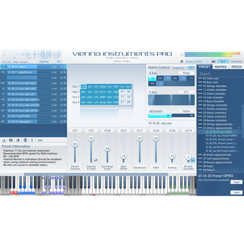 Vienna Symphonic Library Instruments PRO 2