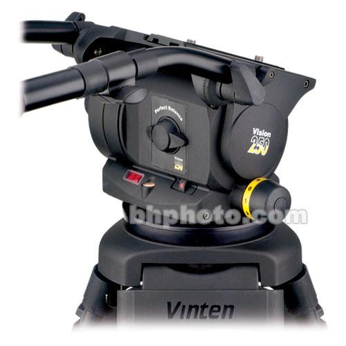 Vinten VISION 250 Fluid Head (Quickfix and Flat Base) (Black)