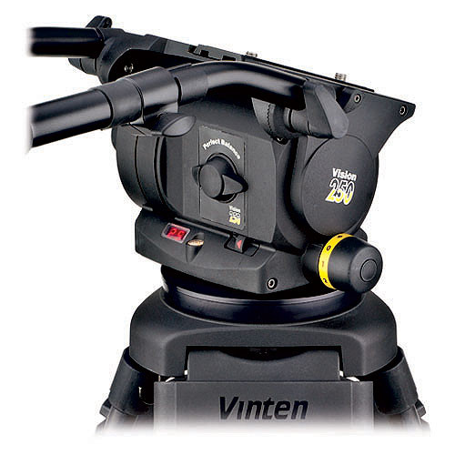 Vinten VISION 250 HD Fluid Head (100mm/150mm Ball Base) (Black)