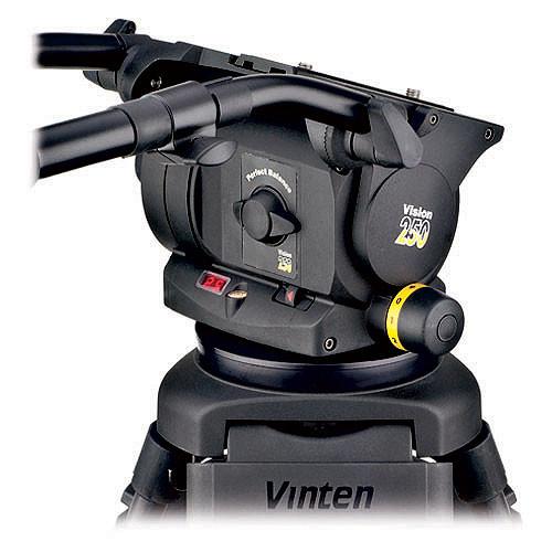 Vinten VISION 250 Carbon Fiber Tripod System with Ground Spreader (Black)