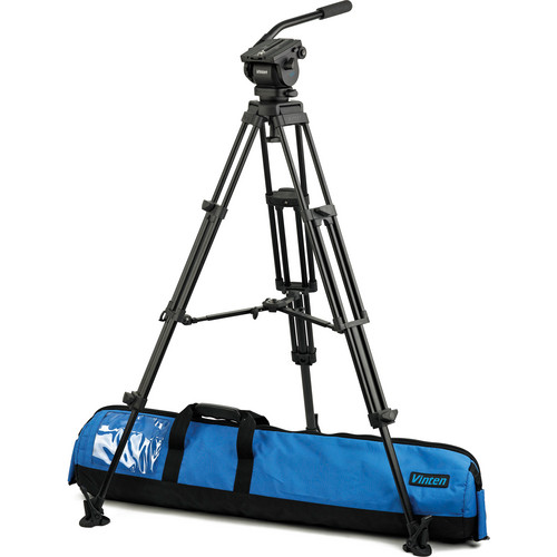 Vinten VB-AP2M Vision blue Fluid Head & Pozi-Lock Tripod System with Mid-Level Spreader