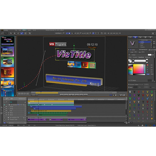 VisTitle 2.0 3D Title Effects Plug-In for EDIUS 6.0 and Higher (Download)