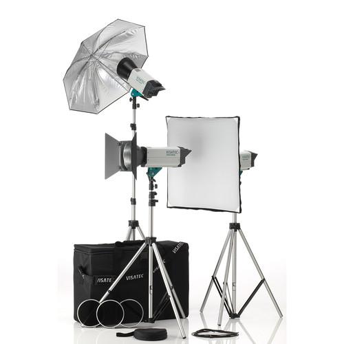 Visatec Solo 384 Three Monolight Kit (120VAC)