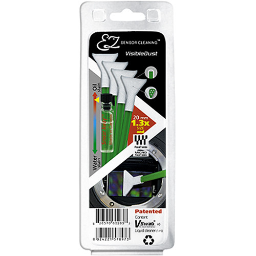 VisibleDust EZ Sensor Cleaning Kit with Smear Away and 4 Green 1.3x Vswabs