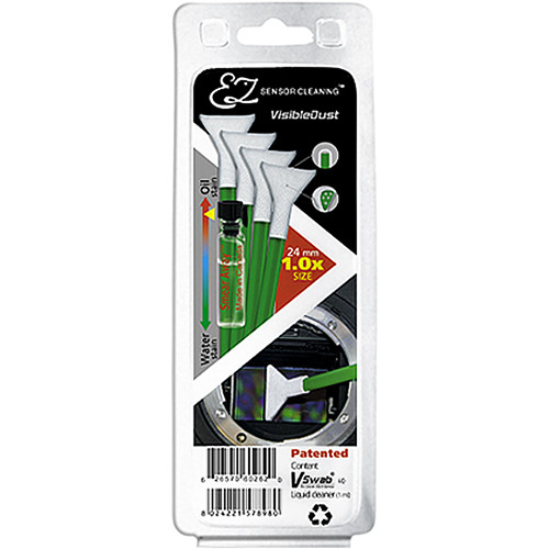 VisibleDust EZ Sensor Cleaning Kit with Smear Away and 4 Green 1.0x Vswabs