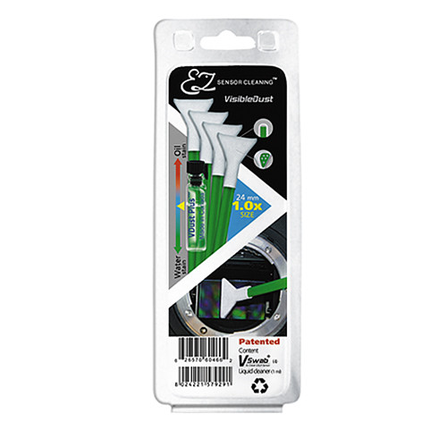 VisibleDust EZ Sensor Cleaning Kit with VDust Plus and 4 Green 1.0x Vswabs