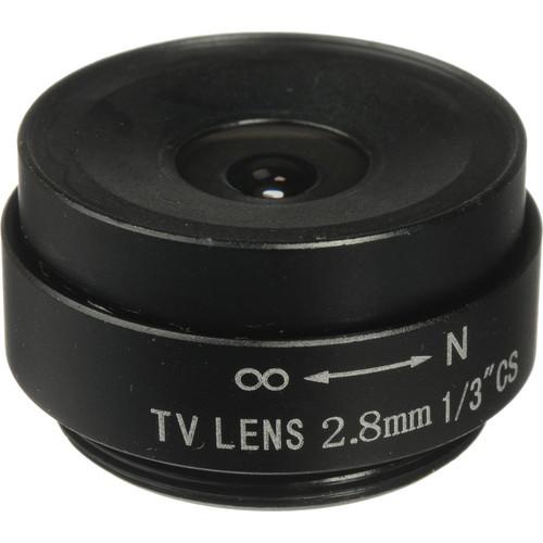 "Vitek 1/3"" 2.8mm Fixed Iris CS-Mount Lens"