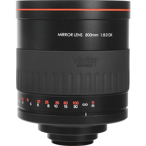 Vivitar 800mm f/8 Series 1 Manual Focus Mirror Lens (Requires T-Mount Adapter)