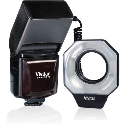 Vivitar DF-586 Dedicated Macro Ring Flash for Canon