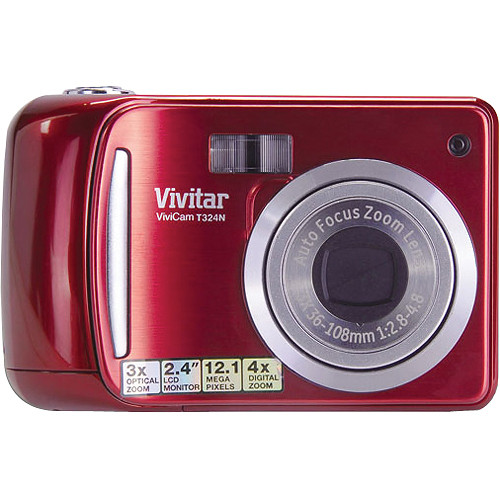 Vivitar Vivicam T324N Digital Camera (Strawberry)