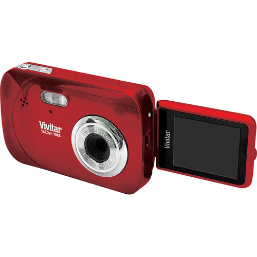 Vivitar iTwist 7028 Digital Camera (Strawberry)