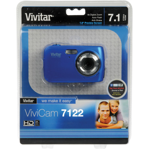 Vivitar ViviCam 7122 Digital Camera (Blue)