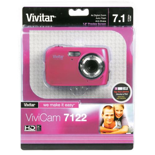 Vivitar ViviCam 7122 Digital Camera (Pink)