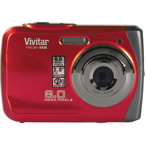 Vivitar ViviCam 8426 8Mp Waterproof Digital Camera (Red)