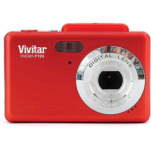Vivitar Vivicam iTwist F124 Digital Camera (Red)