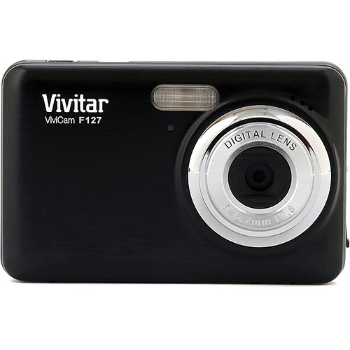 Vivitar 14.1Mp ViviCam F127 Digital Camera (Black)