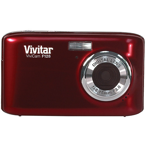 Vivitar ViviCam F128 Digital Camera (Red)