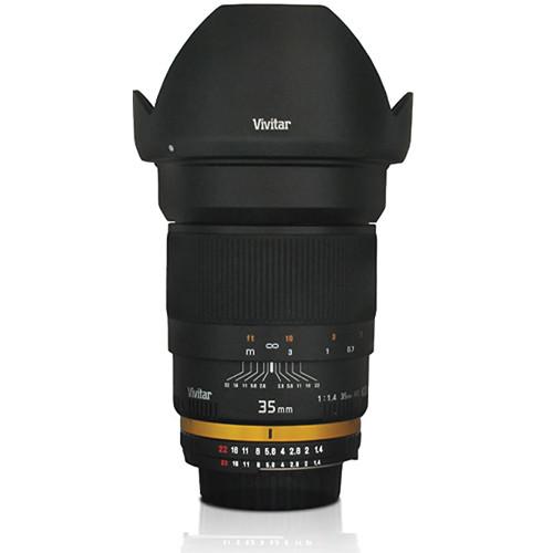 Vivitar 35mm f/1.4 Aspherical Lens for Sony A Cameras