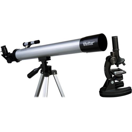 Vivitar Compound Monocular Microscope / 40mm Refractor Telescope Combo Kit
