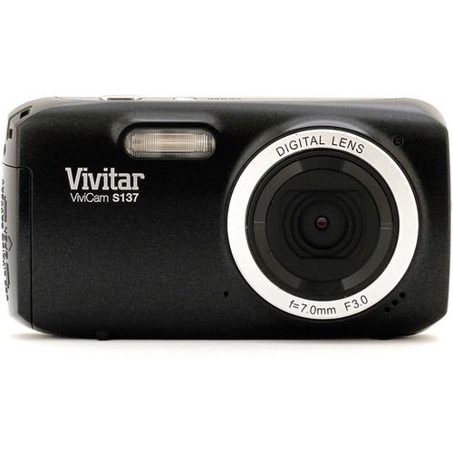 Vivitar 16.1Mp ViviCam S137 Digital Camera (Black)