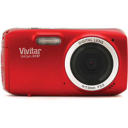 Vivitar 16.1Mp ViviCam S137 Digital Camera (Red)