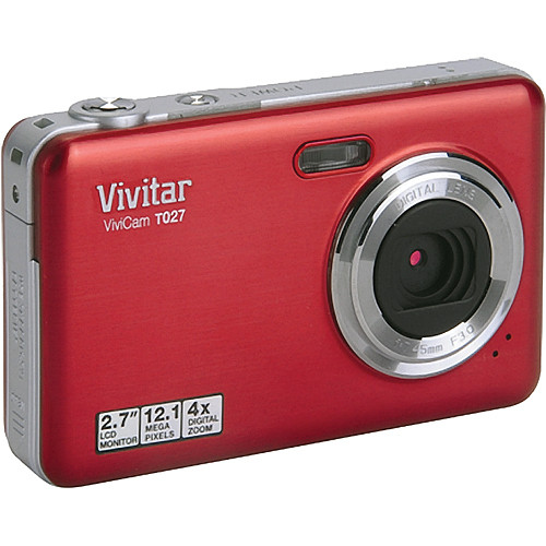 Vivitar ViviCam T027 Digital Camera (Strawberry)