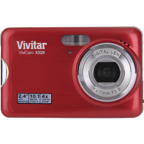 Vivitar ViviCam X029 Digital Camera (Strawberry)