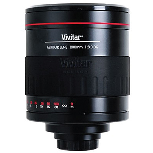 Vivitar 800MR 800mm f/8 Telephoto Mirror Lens for T-mount