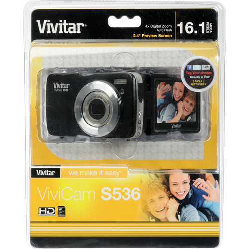 Vivitar ViviCam S536 Digital Camera (Black)