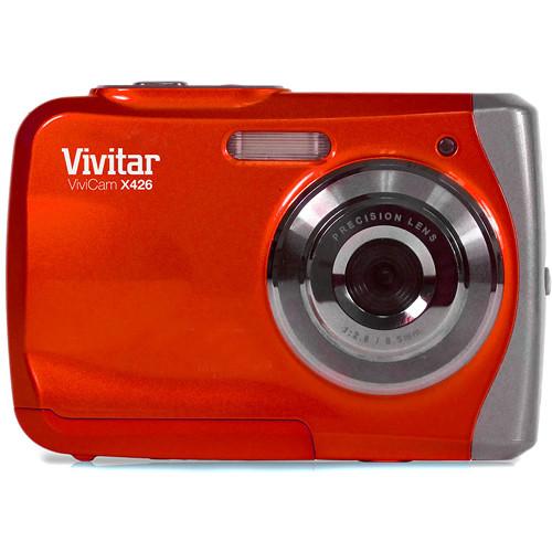 Vivitar ViviCam X426 Waterproof Digital Camera (Red)