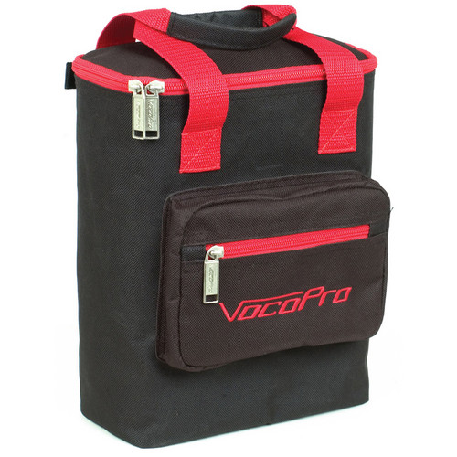 VocoPro Bag-4 Heavy-Duty Carrying Bag for Mics (Black/Red Trim)