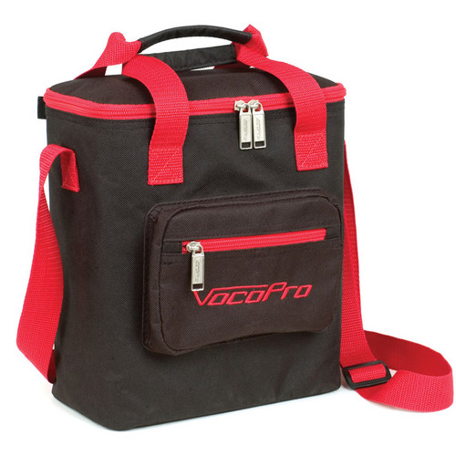 VocoPro Bag-8 Heavy-Duty Carrying Bag for Mics (Black/Red Trim)