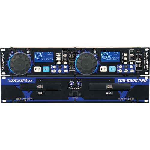 VocoPro CDG-8900 PRO Professional Dual Tray CD / CD+G Player