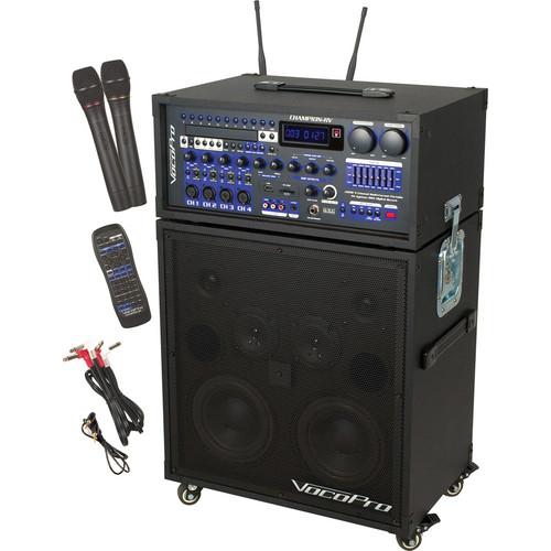 VocoPro Champion RV-4 200W 4-Channel Multi-Format Portable P.A. System