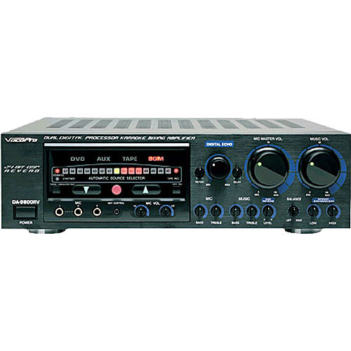 VocoPro DA-9800RV Karaoke Mixing Amplifier with Digital Key Control