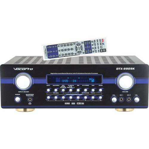 VocoPro DTX-9909K 700W MAX 7.1 Surround Sound Receiver with Professional Vocal DSP Processing