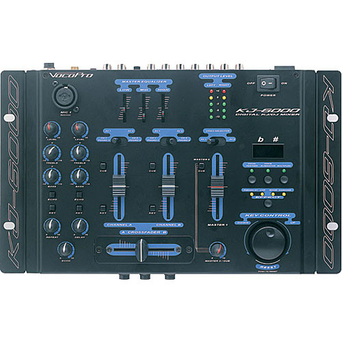 VocoPro KJ-6000 Rack-Mountable Karaoke/DJ Mixer with Key Control