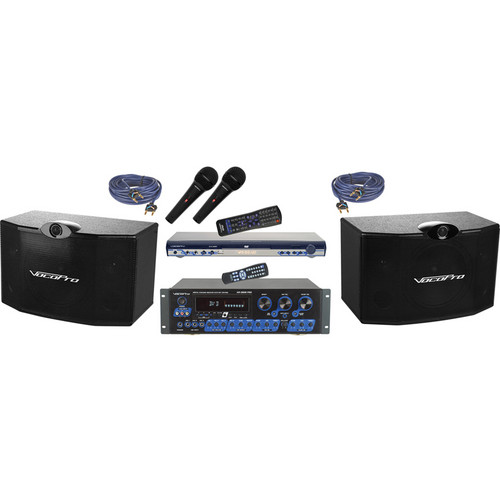 VocoPro KTV-3808 II KTV Digital Karaoke Mixing Amplifier with Speaker Package