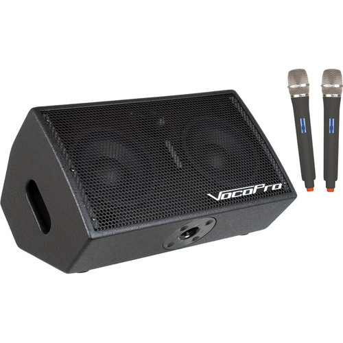 VocoPro STAGE-MAN 2 200W 3-Channel Active Vocal Monitor with DSP Effects & SD Recorder