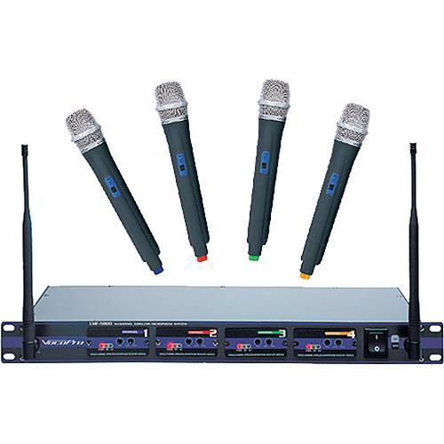 VocoPro UHF-5800 4-Channel UHF Wireless Handheld Microphone System