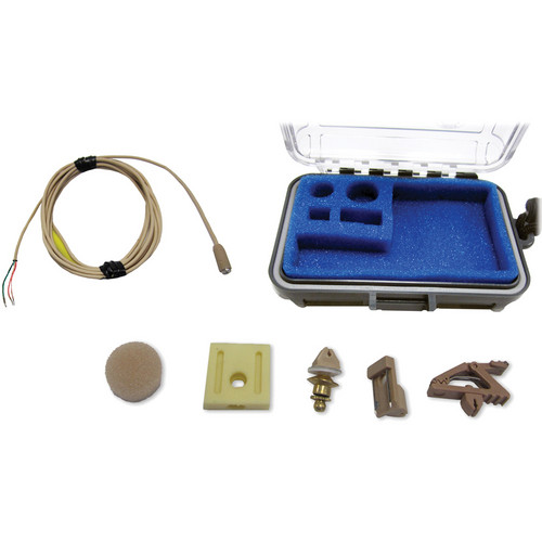 Voice Technologies VT401 Professional Miniature Omnidirectional Lavalier Microphone (Beige) (High Sens)