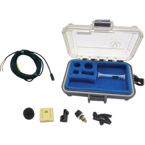 Voice Technologies VT401 Professional Miniature Omnidirectional Lavalier Microphone (Black) (High Sens)