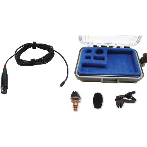 Voice Technologies VT402 Professional Miniature Omnidirectional Lavalier Microphone (Black)