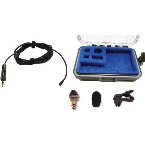 Voice Technologies VT402 Professional Miniature Omnidirectional Lavalier Microphone (Black)