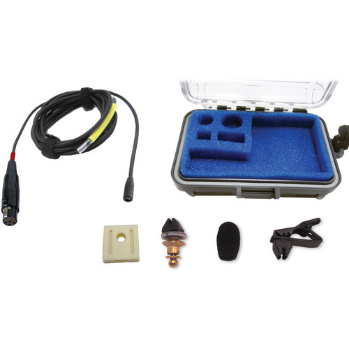 Voice Technologies VT403 Vocal Omnidirectional Lavalier Microphone with Servo-Bias TA5F Jack (Black)